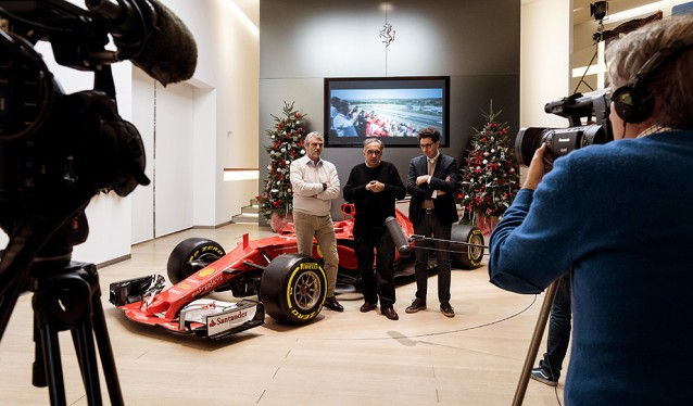 Comida de Navidad de Ferrari con la Prensa