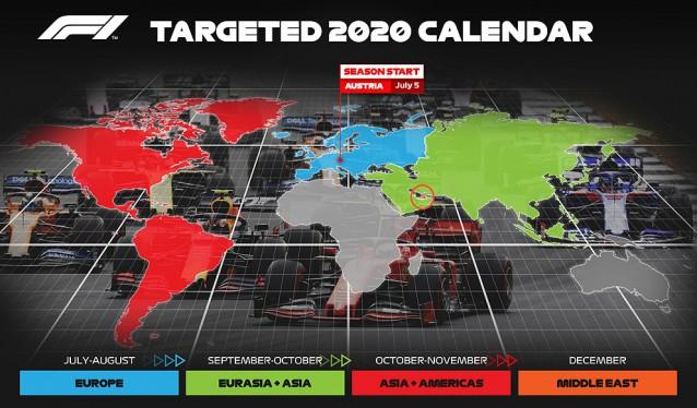 La Fórmula 1 va dando forma a un nuevo Calendario para esta temporada