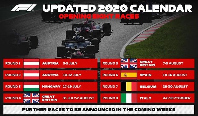 La Fórmula 1 confirma el calendario de su gira Europea...
