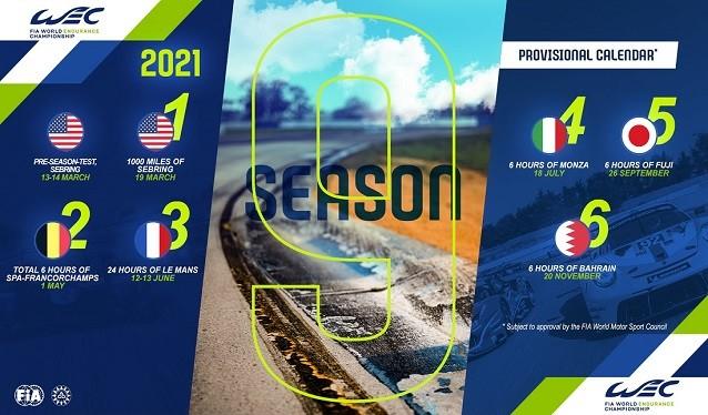 FIA y ACO presentan un Calendario del WEC reducido a seis carreras para el 2021
