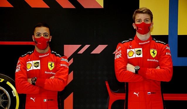 Shwartzman y Fuoco estarán en los test de Abu Dhabi con Ferrari...
