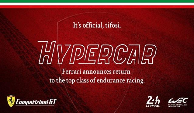 ¡¡Oficial!! Ferrari confirma su regreso a Le Mans para 2023…