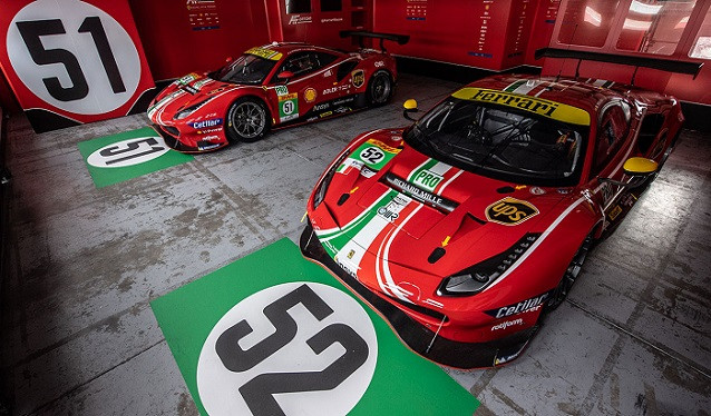 AF Corse desvela la decoración de sus Ferrari del WEC