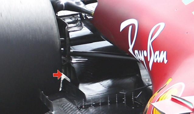 Novedades en la trasera del Ferrari SF21, vistas en Bahrain