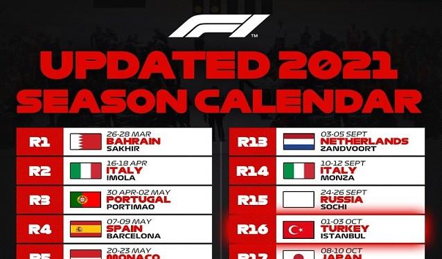 El GP de Turquía entra de nuevo en el calendario 2021 de la F1