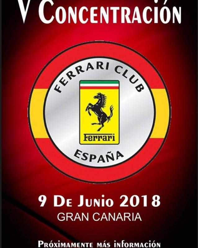 5 Concentración Ferrari en las Islas Canarias