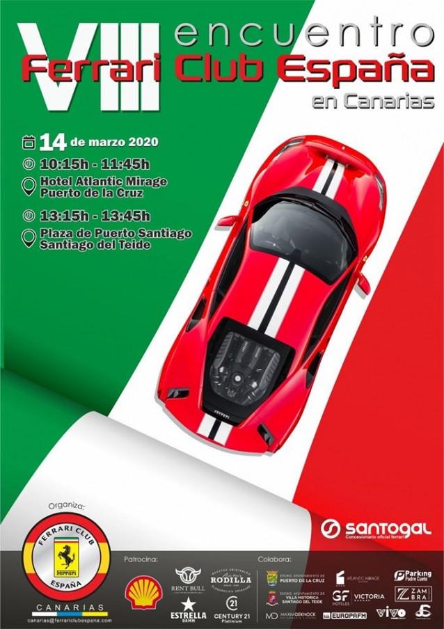 Concentración Ferrari en Tenerife (Islas Canarias)