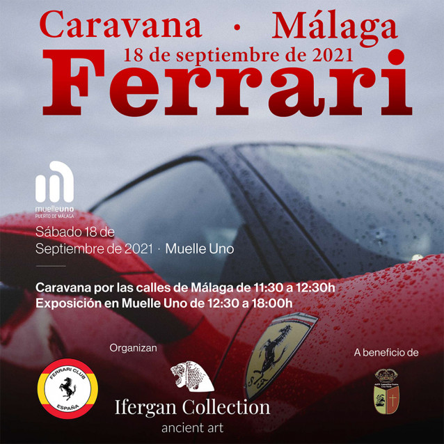 Caravana Ferrari y visita al Museo Ifergan (Málaga)